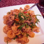 Fried Calamari with Chopped Peppers