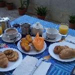 Breakfast on terrace!