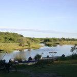 River from Okavango River Lodge lawn