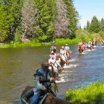 Trail ride crossing the Colorado River