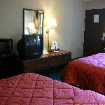 TV, Microwave & Medium Mini-Fridge in Room at Comfort INN