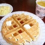 Fresh Make-Your-Own Waffle, Orange Juice & scrambled eggs on Comfort Sunshine Breakfast
