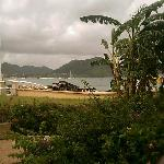 View from beach front villa
