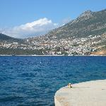 View of Kalkan Town from the beach near the hotel