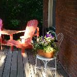 Porch first thing in morning