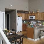 Kitchen and Dining area  in the Katlian Street Suites
