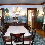 Dining room with reproduction murals
