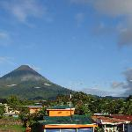 View of the volcano from the observatory