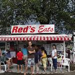 In front of Red's