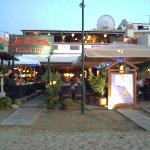 our favourite restaurant, taken from the beach