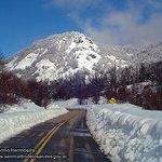La ruta 234, cubierta de nieve.