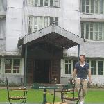 the hotel's entrance