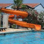 Le tobbogan de la piscine