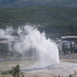 View of Old Faithful from Observation Point