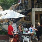 great casual courtyard, fun shops nearby