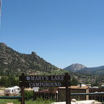 Mary's Lake Campground entrance