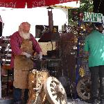 Father christmas, working in Cetinje during the summer