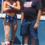 Meeting Wonder Woman.