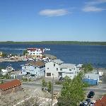 Bayside B & B from The Rock above old town