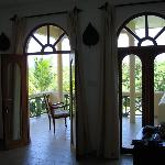 View to balcony from room