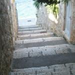 A section of the stairs, but they are everywhere on Hvar and not bad.