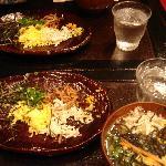 夕食2(鶏飯)