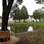The village green and pond at Holasovice