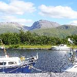 View from the garden of canal & Ben Nevis