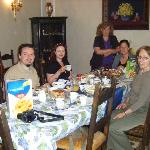 Breakfast in Anna Valeria's Dining room with fellow travellers
