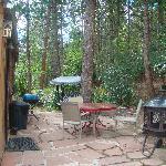 Cabin #2 back porch