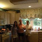 Making a wonderful breakfast,  Owners of B&B