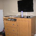 TV in king bed sleeping area
