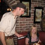 """Indiana Jones"" was our waiter."