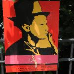 All around Columbus park were posters of immigrants with short stories describing each image.