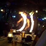 fire dancer on turkish night