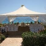 Gazebo where we got married on hotel grounds