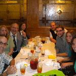 Our family enjoying a rehearsal dinner at Julianos Restaurant
