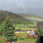 A rainbow over the ranch