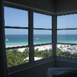 Looking out room window (Rm 1004)