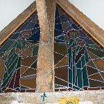 Stainglass of oratory/bedroom
