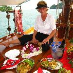 Eva prepared a feast for us