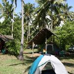 The camp site.