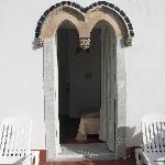 la porta finestra che da sulla terrazza
