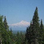 Mt. McKinley view from chalet front door