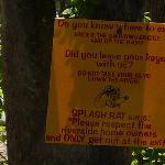 River Rat Reminders sign