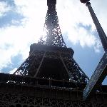 View from the base of Eiffel Tower
