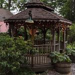One of the landscaped gazebos at Laurelwood Mountain Inn