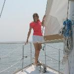 Here I am on the boat