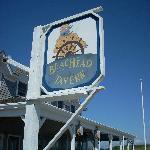 The Beachead sign