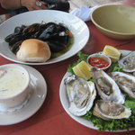 Chower, Mussels, and Oysters